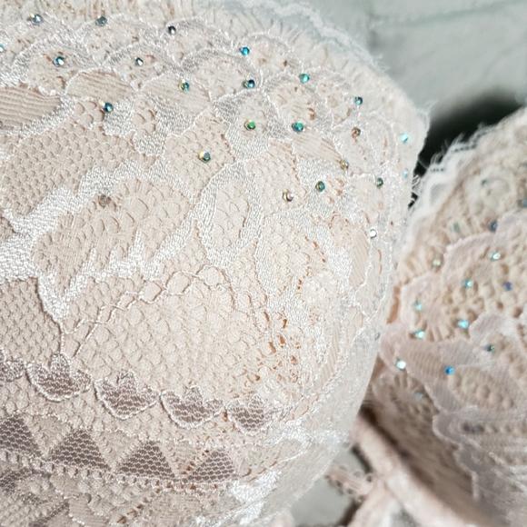 36C LaSenza Romantic Studded Lace Pushup Bra